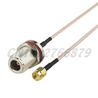 Wholesale sma male to n female for sale - Group buy 0 ft cm RF N Jack female bulkhead O ring to SMA Plug male Straight RG316 Pigtail Cable Antenna Feeder assembly