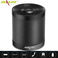 Wholesale mp3 tf card for sale - Zealot S5 Altoparlante USB MP3 TF Card HiFi Stereo Mini Radio Speaker Bluetooth Speaker Enceinte Bluetooth Portable Lautsprecher