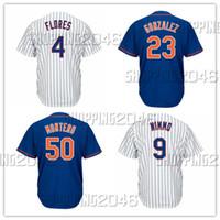 Discount royals jerseys - Men's 4 Wilmer Flores 9 Brandon Nimmo 23 Adrian Gonzalez 50 Rafael Montero Royal White Cool base custom Jerseys