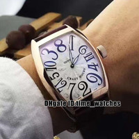 Wholesale ch sports - NEW Luxury Automatic mechanical men's watch FM CRAZY HOURS 8880 CH Rose gold case white dial Gents sport Watches black Leather strap