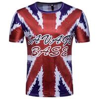 Wholesale uk t shirt printing - UK 3D Printed Soccer Team T Shirts Short Sleeve Casual Men World Cup T Shirts Plus Size M-2XL