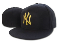 Wholesale pink fitted hats men resale online - 2018 summer style NY letter Baseball caps Chapeu bone men and women sports hiphop full closed Fitted Hats