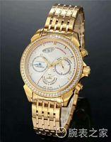 ingrosso orologio impermeabile mens giallo-Luxury Brand Yellow Gold DeVille Chronoscope 9100 Cronografo automatico da uomo - Tre sub-quadranti Sapphire 50M impermeabile da polso da uomo