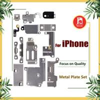 iphone innere klammern gesetzt großhandel-Für iPhone 5 5S SE 5C 6 6P 6S 6S Plus 7G 8 plus X Ganzkörper-Innenkleinhalterung Halterung Schild Metall Eisen Körperteile Set