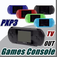 Wholesale game cartridges - DHL Factory Wholesale PXP3 16Bit Games Console Handheld PVP Retro TV-Out Video Game Cartridges PXP Gaming Console B-ZY