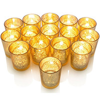 Wholesale unique bar glasses for sale - Group buy Candle Holders For Glass Cup Mosaic Candlestick Plated With Speckled Gold Finish Perfect Unique Every Home And Wedding Decor HH7