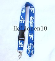 Wholesale records logos for sale - Los Angeles Dodgers Detachable Team Logo Colors Quality Lanyard Keychain MLB