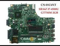 Wholesale CN C6NT for Dell Inspiron laptop Motherboard C6NT SR16Z I7 U GT750M GB DDR3L Fully Tested