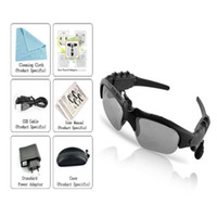 Wholesale Telephone Headset Bluetooth - Smart Glasses Sports Stereo Wireless Bluetooth 4.0 Headset Telephone Polarized Driving Sunglasses mp3 Riding Eyes Glasses Safe Driving