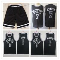 Wholesale dryer pa online - Nwt Paris Basketball Jerseys Black MBAPPE CAVANI JR CAVANI Stitched maillot de basket shirt pas cher Good Quanlity Mix Order
