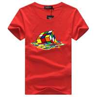 gran camiseta de talla grande al por mayor-2018 Sheldon Cooper Fusion rubik Cube camiseta hombres blancos camiseta homme casual plus size The Big Bang Theory friki camiseta