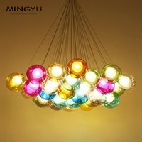 Longree Colorful Ball Lamp G4 LED Lampade a sospensione 110V / 220V Design creativo apparecchi di illuminazione per la casa Deco Bar Coffee Living Room