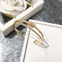 Wholesale mexican gold price bracelet 18k resale online - new fashion jewelry Lucky double Full drill multilayer Charm bracelet factory price for woman jewelry