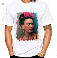 ingrosso frida kahlo tees-T-Shirt Frida Kahlo Man Artist Tee Portrait Messicano Etnico Personal Art New T-Shirt da donna Girocollo Top Tees uomo T-shirt teschio Ypf10