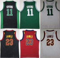 Wholesale Kyrie Irving Shirt - Cheap Kids 2 Kyrie Irving 23 James Jersey boy child youth Shirts Stitched Jerseys top Quanlity Mix Order