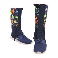 обувь для камуфляжа оптовых-1 Pair Snow Gaiters Camouflage Waterproof Leg Cover Shoe Boot Legging Wraps Outdoor Climbing Hiking Women Men Shoes Covers