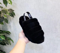 ingrosso scarpe scarpe australia-2019 hot DONNA Australia Fluff Yeah Slide designer di lusso scarpe casual di marca stivali wgg scarpe da donna autunno e inverno esplosioni US5-10