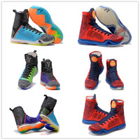 Wholesale Usa Size 12 - 2018 New kobe 10 High Multicolor Woven Men's Basketball Shoes,Men KB 10s Elite Wolf Grey Green USA Top quality Sports Sneakers Size US 7-12
