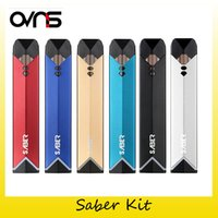 Wholesale green smoke cartridges - Authentic Ovns Saber Starter Kit 400mAh Battery E Cigarette Vaporizer Vape Pen For Pod Cartridge VS COCO Smoking Kits 100% Original