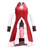 madoka magica cosplay venda por atacado-Mulheres Puella Magi Madoka Magica Sakura Cosplay Kyoko Traje