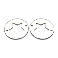 Wholesale animal jewelry connectors resale online - 10pcs mm Stainless Steel Round Metal Star Connectors For Bracelet Necklace Charms Animal Connectors Jewelry Making F3639