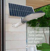 Wholesale high solar panel - High Quality 50W 100W Solar Powered Panel Led Remote control Flood Lights outdoor floodlight Garden Street light courtyard Wall lamp