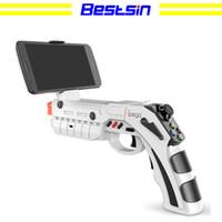 Wholesale gun controller resale online - Bestsin PG PG9082 Bluetooth Shooting AR Gun Game Magic Gun Game Controller Gamepad Joystick for Android iOS Phone PC AR