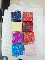 collar de lujo de china al por mayor-Venta al por mayor barato Wholesale8pcs chino de seda hecho a mano anillo de lujo colgante de collar de caja de joyería