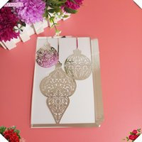 Wholesale Wedding Invitations Blank Inside - Hot 10Pcs Personalized Custom Wedding Invitation Card Delicate Carved Pattern Decoration With Single-layer blank inside pages 6Z