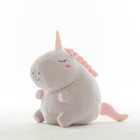 boneca de coração de pelúcia venda por atacado-Unicorn Plush Doll Toys Crianças Recheado De Algodão Super Macio Bonito Boneca Bebê Três Tamanhos Confortável Toque Sorriso Coração Olhos Travesseiro Presente