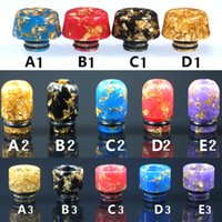 Wholesale drip tips bullets for sale - Group buy 510 Epoxy Resin Drip Tip Wide Bore Mouthpiece Starry Sky US dollar Bullet Drip Tips for Atomizers Tank Acrylic packaging DHL Free