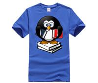очки пингвинов оптовых-Пингвин Рубашка Любовь Книги Очки Выродок Смешные Подарки Футболка