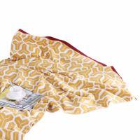 colchas amarelas venda por atacado-Estilo moderno Amarelo Cor Sólida Padrão Retangular 1 pcs Cobertores Cobertores De Cama Para Cama Macia Cobrir Quente Macio Coberto