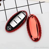 abdeckung für nissan autoschlüssel großhandel-Car Styling Soft TPU Autoschlüssel Abdeckung Fall Fit für Auto Nissan Sunny / Teana / X-Trail / Livina / Sylphy Schlüsselanhänger Kette