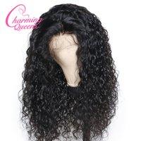 frente de encaje virgen reinas al por mayor-Slove Pre Plucked Lace Front Pelucas de cabello humano para mujeres negras Onda natural brasileña Virgin Virgin Lace peluca con el pelo del bebé Reina encantadora