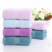 Wholesale Flower Hair Dryer - 34*74cm Soft Cotton Face Flower Towel Bamboo Fiber Quick Dry Towels New Towels For Bathroom 5 Colors Quick-Dry