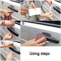 Wholesale Car Paint Film - Universal 8X Car Door Handle Scratch Guard Protector Sticker Film Car Styling Handle Paint Scratches Protective sticker