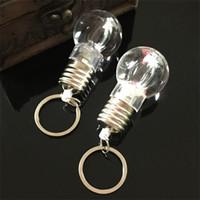 lambalar flaş ampuller toptan satış-Beyaz Işık Anahtar Toka Yanıp Lambası Ampul Anahtarlık Küçük Hediye Kolye Açık Moda Yaratıcı Yedi Işıkları Renkler 1ly ii