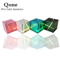 neuer würfelsprecher großhandel-Neue qone mini cube lautsprecher 3d stereo sound tragbare bluetooth lautsprecher drahtlose musikbox unterstützung tf karte mit kleinkasten bessere ladung 3