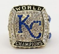 Wholesale league championship ring - Who Can Beat Our Rings, High Quality 2015 Kansas City Royals Major League Championship Ring For Men's Fashion Jewelry