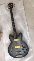 bassgitarre hohlkörper großhandel-Wholesale New 4 String E-Bass Semi Hohlkörper In Charcoal Burst 171110