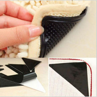 Wholesale bathroom mat grippers resale online - Ruggies Rug Carpet Mat Grippers Non Slip Grip Corners Pad Anti Skid Reusable Silicone Useful Tidy Triangle Carpet Mat Grippers Pad KKA4542