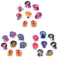 Wholesale cartoon hair rope for sale - Group buy 50pcs Little Horse Cute Cartoon PVC Hairband Kids Scrunchy Hair Band Elastic Hair Accessories Girl s Hair Rope Favor Party Gift Jewelry