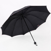 Wholesale umbrella commercial for sale - Group buy Windproof Laice lace Umbrella Three Folding Umbrellas Male Commercial Umbrella Man s with ribs