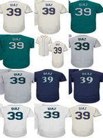Wholesale outlet patch - Factory Outlet Adults Ladys Youth Toddlers Seattle 39 Edwin Diaz Home Road Alternate Stitched Best Quality Baseball Jerseys With 40th Patch
