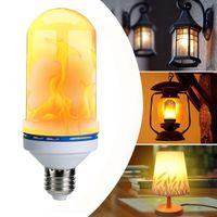 ingrosso branelli epistar-Lampada a fiamma a effetto fuoco LED E27 Lampada a sfarfallio LED a forma di perlina Illuminazione a luce decorativa simulata Illuminazione vintage Fiammeggiante verso l'alto