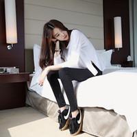 pies femeninos coreanos al por mayor-Pantalones de lápiz Jeans de mujer en la primavera Nuevos jeans elásticos negros Nuevos pantalones vaqueros ajustados elásticos coreanos femeninos Pantalones de lápiz Pies