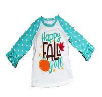 coches ropa de manga larga al por mayor-Camiseta de las niñas de Halloween Baby girls regalo verano niños tops flor de manga larga letra coche patrón de punto ropa