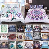 fundas nórdicas de animales al por mayor-3D Impreso Conjuntos de ropa de cama 3 unids / set Funda de Almohada Fundas de Almohada de Animales de Dibujos Animados de Lujo Inicio Ropa de Cama de Navidad Decorativos 40 Estilo WX9-1030