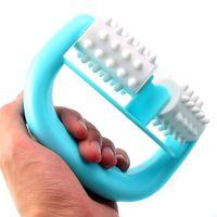 Wholesale mini neck massager resale online - Handheld Full Body Roller Massager Mini Anti Cellulite Massage Wheel Ball Foot Hand Body Neck Head Leg Massagers Pain Relief